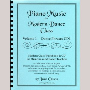 Piano Music for Modern Dance Class Vol 1 - Dance Phrases Sheet Music
