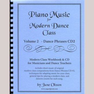 Piano Music for Modern Dance Class Vol 2 / Dance Phrases CD 2