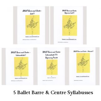 Set of 5 Ballet Barre & Centre Syllabuses