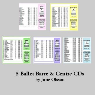 Piano Music for Ballet Set of 5 sheet music books by June Olsson