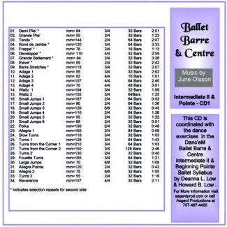 Ballet Barre & Centre - Vol 4 by June Olsson