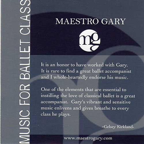 Music for Ballet Class by Maestro Gary
